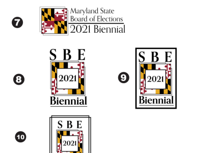 Drafts of 2021 Biennial Logos for Maryland State Board of Elections