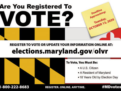 2020 General Election Mailer for Maryland State Board of Elections
